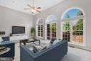 Virtual Staged Family Room - 24643 CLOCK TOWER SQ, ALDIE