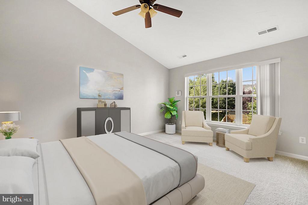 Virtual Staged Master Bedroom - 24643 CLOCK TOWER SQ, ALDIE