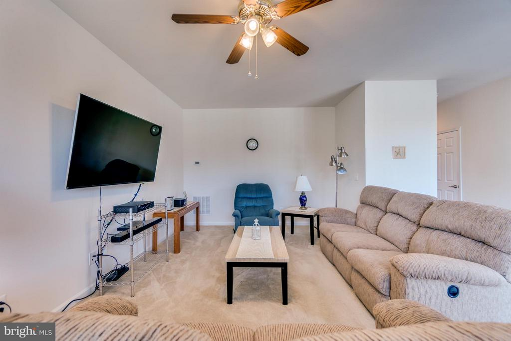Carpeted Family Room opens up to Breakfast area - 1005 JULIAS PL, FREDERICKSBURG
