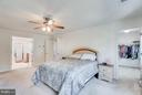 Master is so Large there is a separate closet - 1005 JULIAS PL, FREDERICKSBURG