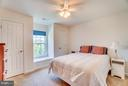 Bedroom One with Window Seat and Two Closets - 1005 JULIAS PL, FREDERICKSBURG