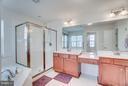 Double Vanity Sinks with Room for Vanity Seat - 1005 JULIAS PL, FREDERICKSBURG