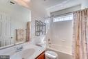 Hall Bathroom with Ceramic Tile and Transom Window - 1005 JULIAS PL, FREDERICKSBURG