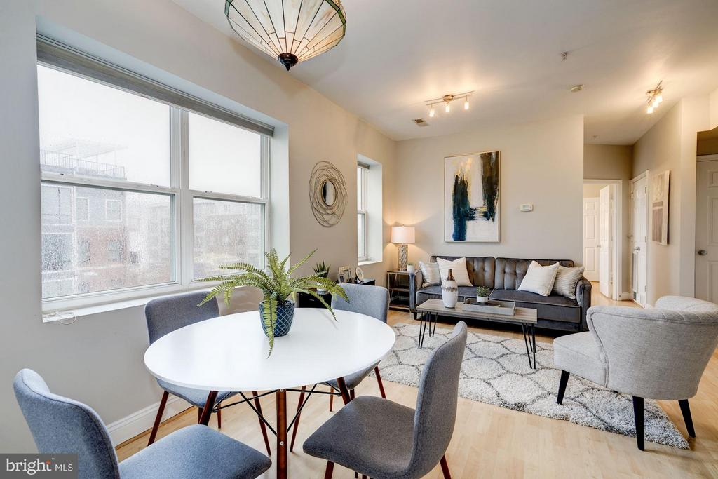 Flexible floor plan allows for dining and lounging - 330 RHODE ISLAND AVE NE #307, WASHINGTON