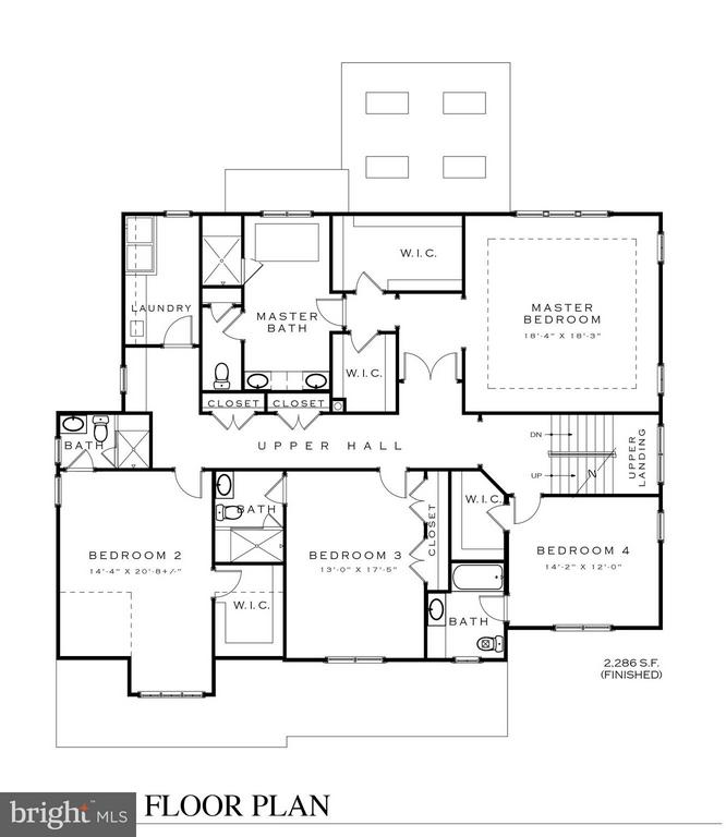 Upper Level Floor Plan - 3016 FLORIDA ST, ARLINGTON