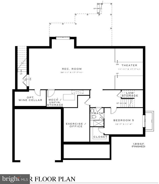 Lower Level Floor Plan - 3016 FLORIDA ST, ARLINGTON