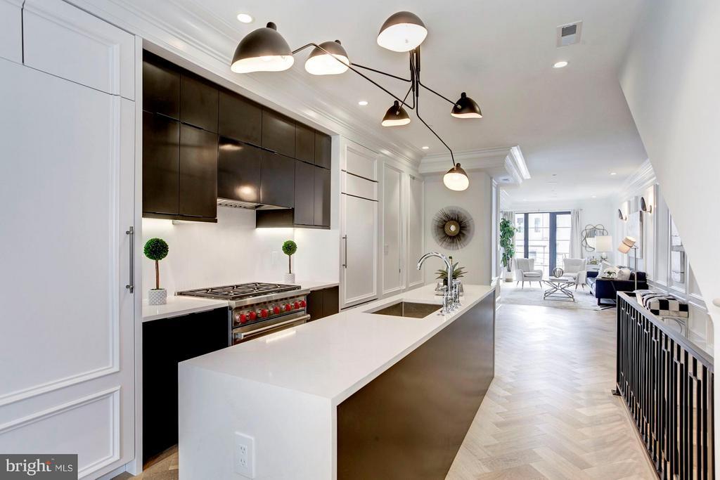 Main Level - Kitchen - 1309 R ST NW #2, WASHINGTON