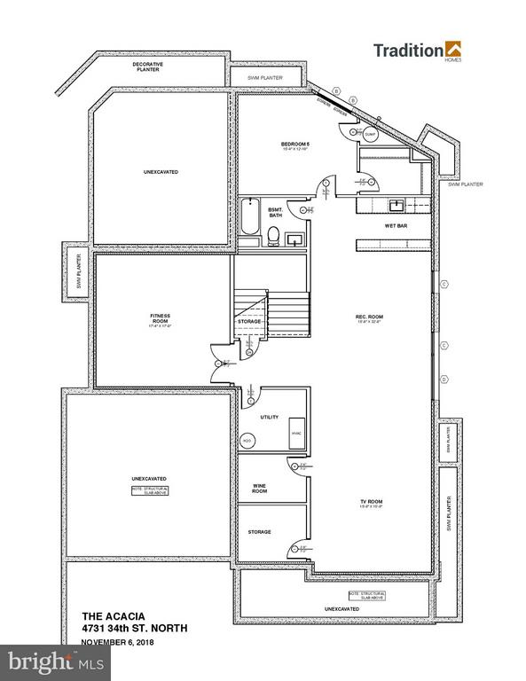 Lower Level Floor Plan - 4731 34TH ST N, ARLINGTON