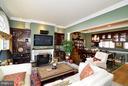 Family Room w/ Gas Fireplace - 1412 N MEADE ST, ARLINGTON