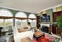 Family Room w/ Gas Fireplace & Great View - 1412 N MEADE ST, ARLINGTON
