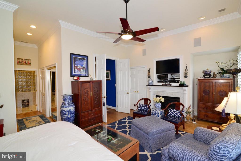 Master Bedroom Sitting Area w/ Gas FP - 1412 N MEADE ST, ARLINGTON