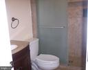 Updated full bath on lower level - 10220 BALLS FORD RD, MANASSAS