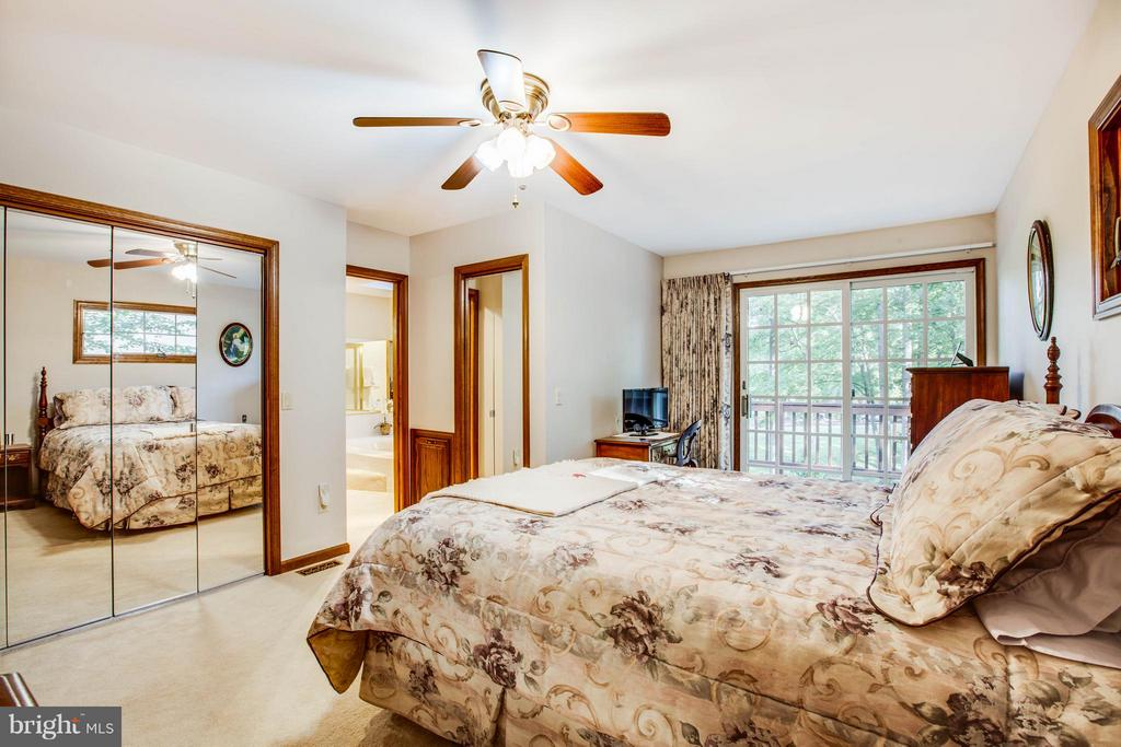 Master bedroom opens to deck. - 303 GOLD VALLEY RD, LOCUST GROVE