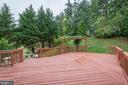 Large deck- great for entertaining - 4081 CARDINAL CREST DR, WOODBRIDGE