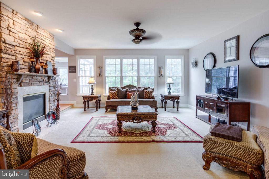 Large family Room with Lots of Light - 12253 TIDESWELL MILL CT, WOODBRIDGE