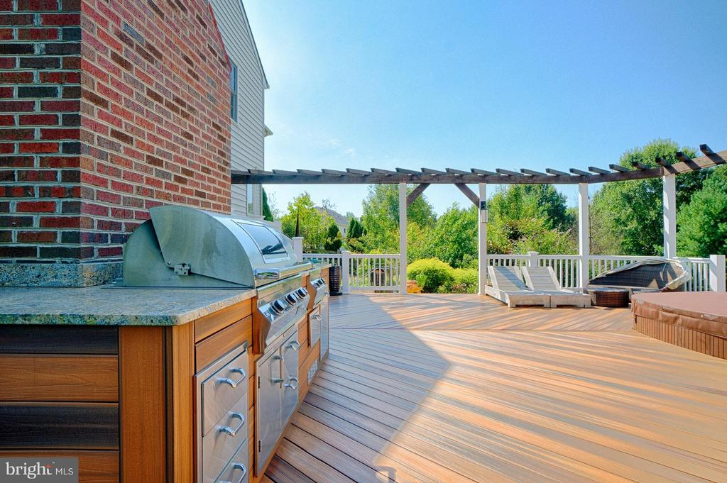 Deck w/ built-in grill - 40600 OPAL CT, LEESBURG