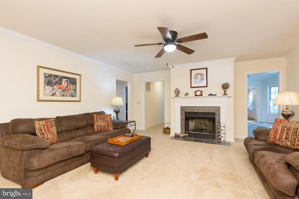 Living Room with Gas Fireplace - 309 BIRDIE RD, LOCUST GROVE