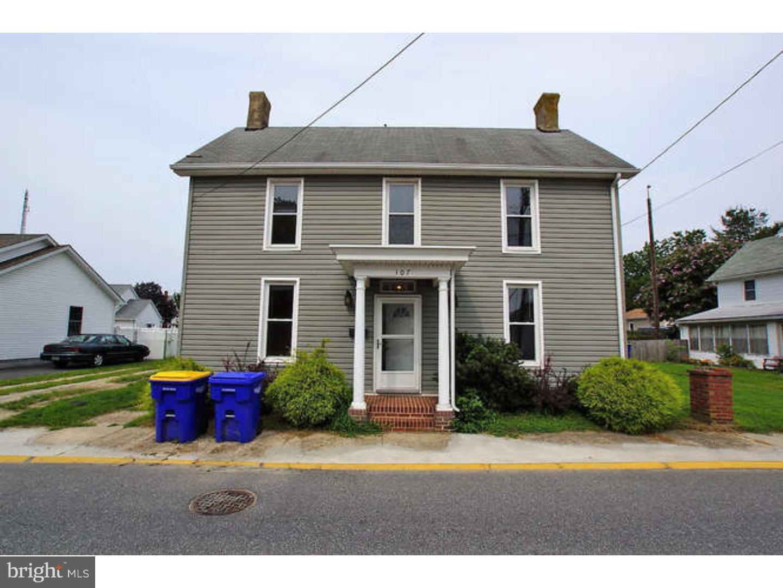 Enfamiljshus för Försäljning vid 107 FLEMING Street Harrington, Delaware 19952 Förenta staterna