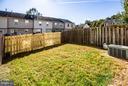 Fenced Back Yard - 108 BRENWICK CT, STAFFORD
