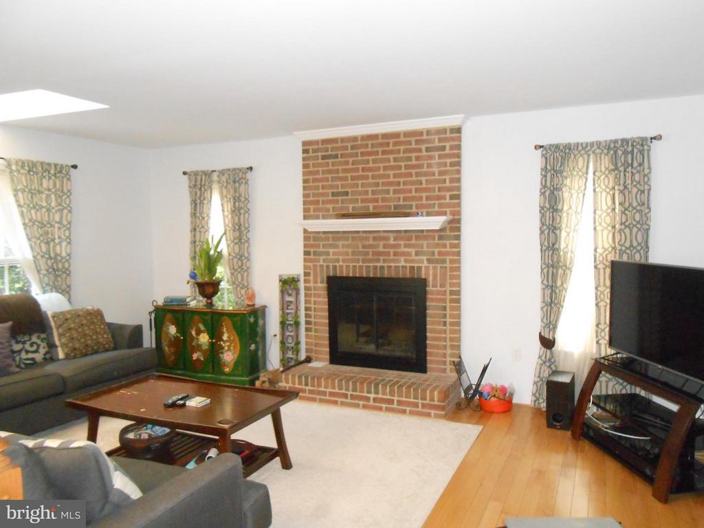 Family Room - Brick wood burning Fireplace - 10210 BENS WAY, MANASSAS