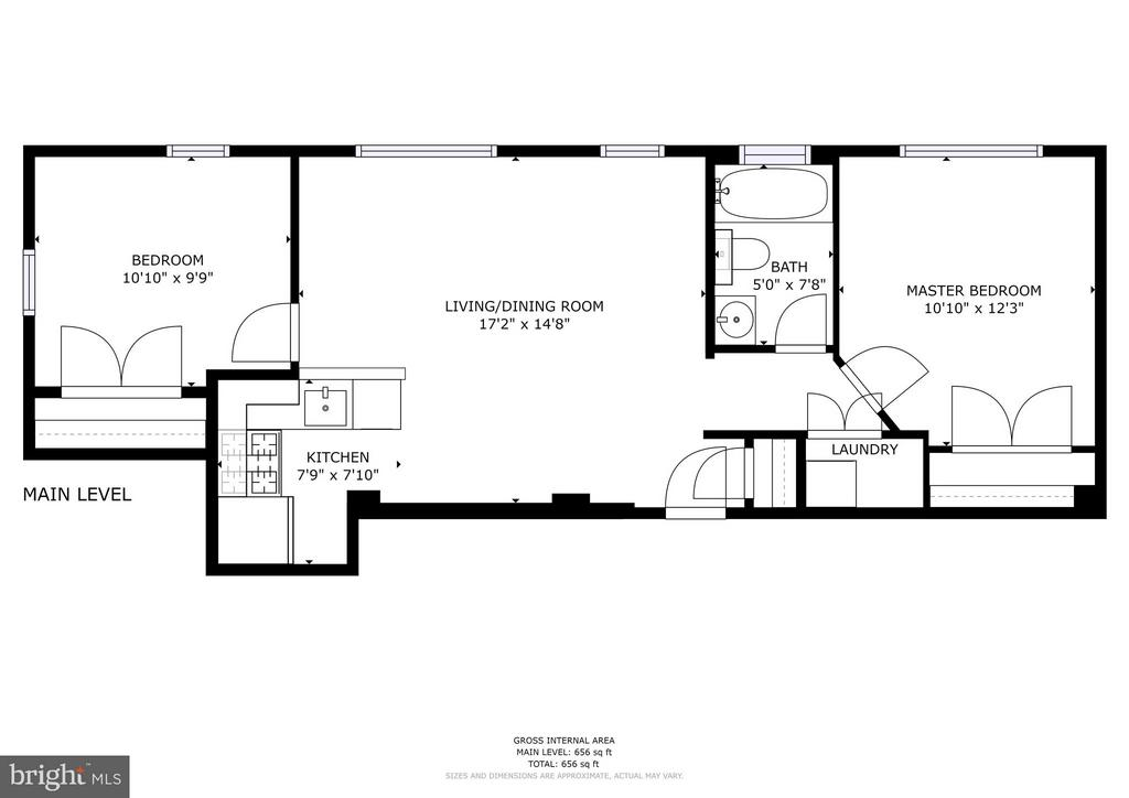 Floor Plan - 330 RHODE ISLAND AVE NE #307, WASHINGTON
