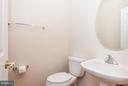 1/2 Bath Main Level w/Ceramic Tile Flooring - 9311 EAGLE CT, MANASSAS PARK