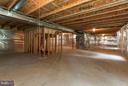 Full Unfinished Basement w/Rough - in for Bathroom - 9311 EAGLE CT, MANASSAS PARK