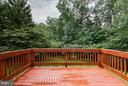 New Deck overlooking Private Backyard - 9311 EAGLE CT, MANASSAS PARK
