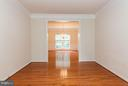 Living Room just off Foyer w/New Wood Floors - 9311 EAGLE CT, MANASSAS PARK