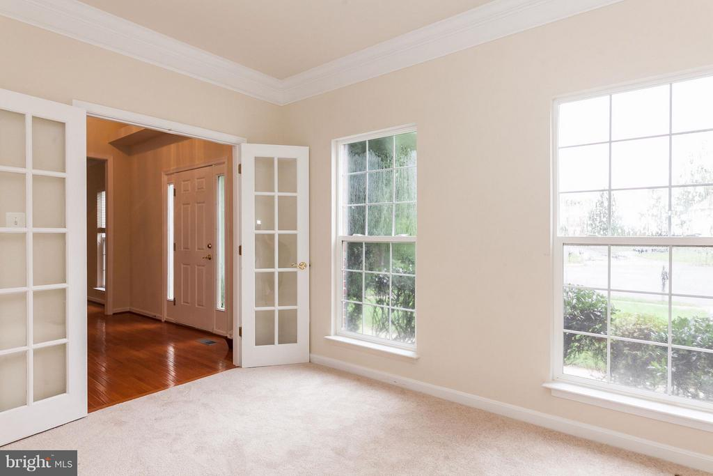 Office with New Carpet & French Doors - 9311 EAGLE CT, MANASSAS PARK