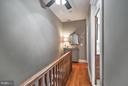 Upstairs Hallway with HDWD Floors and Ceiling Fan - 1447 FLORIDA AVE NW, WASHINGTON