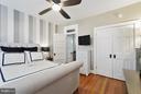 Master with Double Door Closet and Custom Shelving - 1447 FLORIDA AVE NW, WASHINGTON