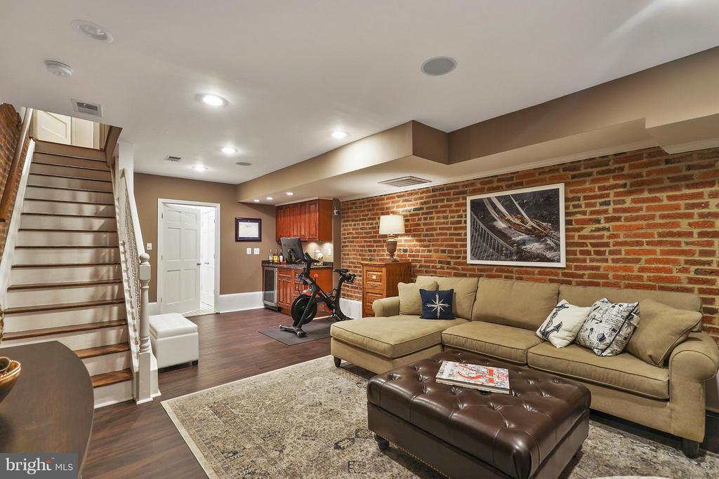 Basement Recreation Room with separate Entrance - 1447 FLORIDA AVE NW, WASHINGTON