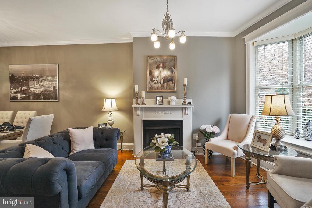 Stunning wood floors, moldings and trim - 1447 FLORIDA AVE NW, WASHINGTON