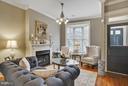 Stunning Living Room with Gas Fireplace - 1447 FLORIDA AVE NW, WASHINGTON