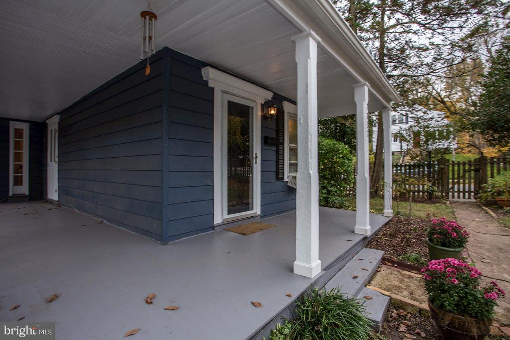 Exterior Front Porch Wrap Around - 3837 ALBEMARLE ST NW, WASHINGTON