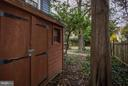 Side Yard Storage Shed - 3837 ALBEMARLE ST NW, WASHINGTON