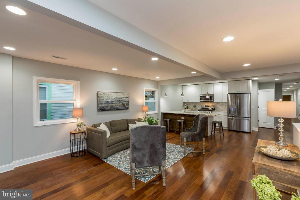 Open Floorplan - LivRm, DinRm, Kitchen - 4479 C ST SE, WASHINGTON