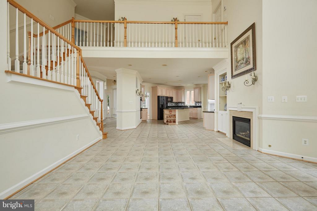 Family Room with Gas Fireplace - 3860 FARRCROFT DR, FAIRFAX