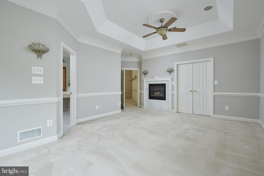 Master Bedroom with Gas Fireplace - 3860 FARRCROFT DR, FAIRFAX