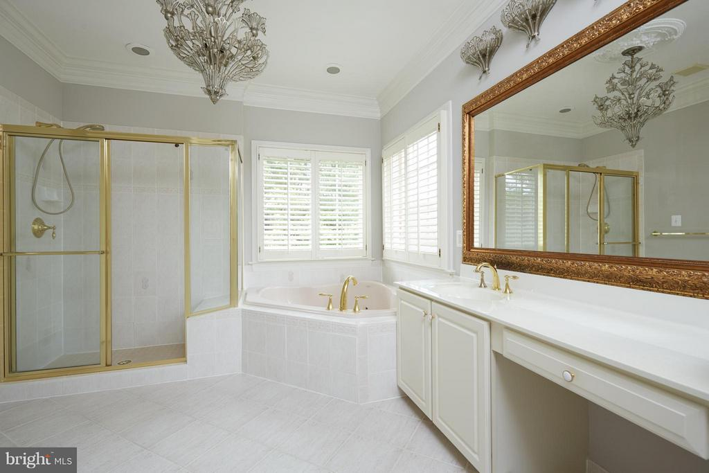 Master Bath with Soaking Tub & Separate Shower - 3860 FARRCROFT DR, FAIRFAX