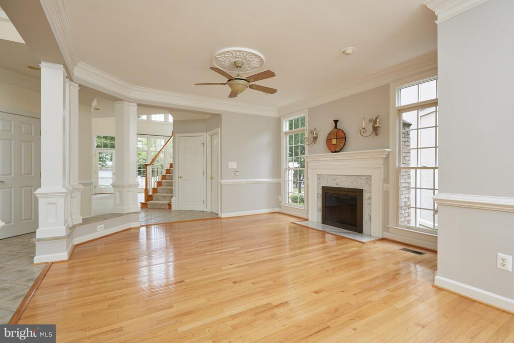 Living Room with Gas Fireplace - 3860 FARRCROFT DR, FAIRFAX