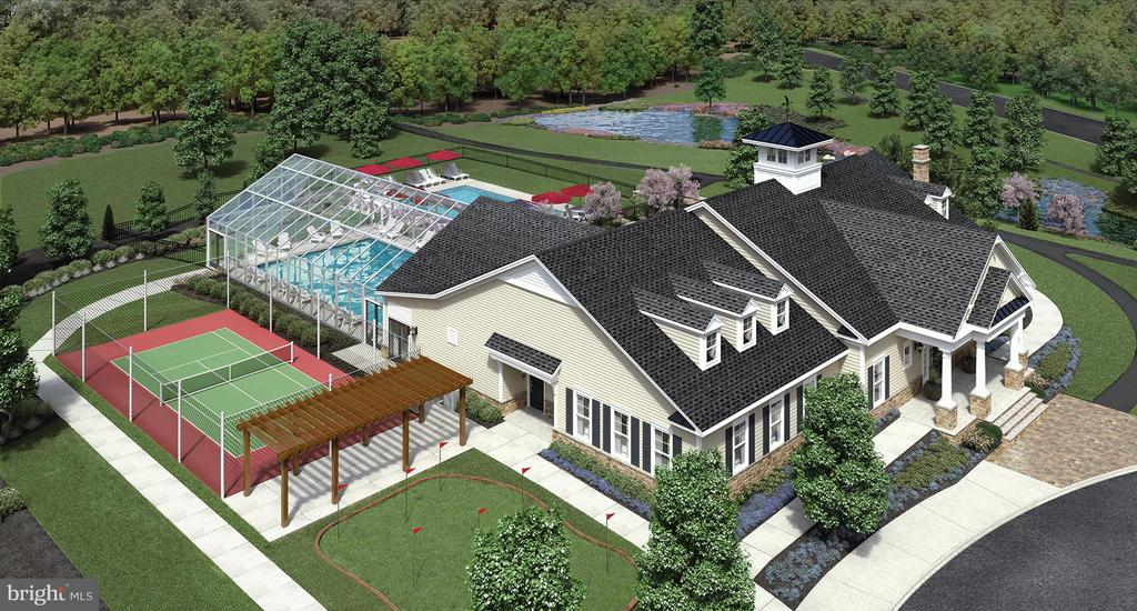 Community Clubhouse Aerial View - 6166 CHANCELLORSVILLE DR, GAINESVILLE