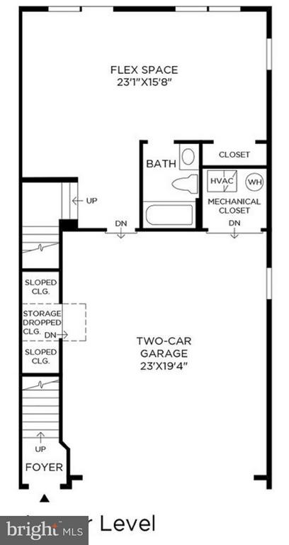 Lower / Main Level Floor Plan - 42484 MILDRED LANDING SQ, ASHBURN
