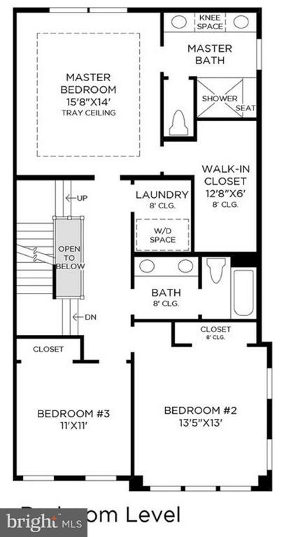 Bedroom / Upper 2 Floor Plan - 42484 MILDRED LANDING SQ, ASHBURN