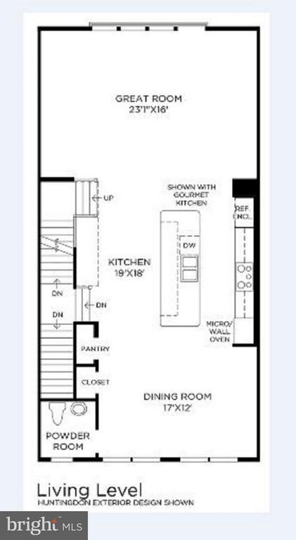 Living / Upper 2 level Floor Plan - 23389 MCDONALD LOCH TER, ASHBURN