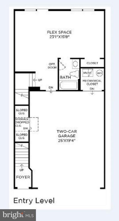 Entry/ Mail~Level Floor Plan - 23389 MCDONALD LOCH TER, ASHBURN