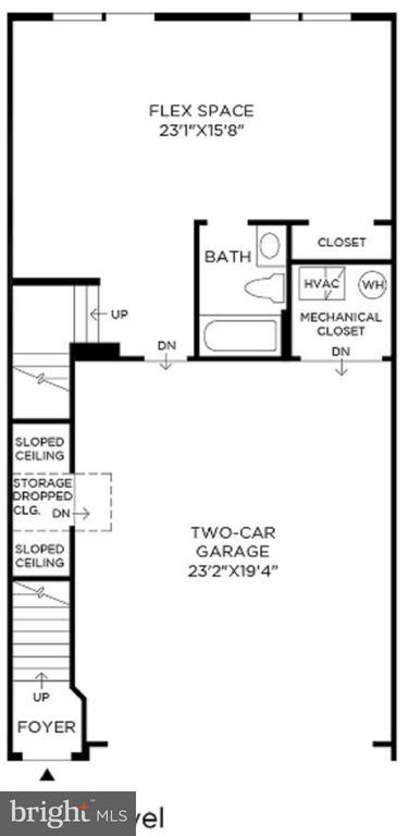 Entry/ Main Level Floor Plan - MILDRED LANDING SQ, ASHBURN