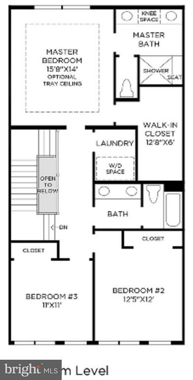 Bedroom/ Upper 2 Floor Plan - MILDRED LANDING SQ, ASHBURN