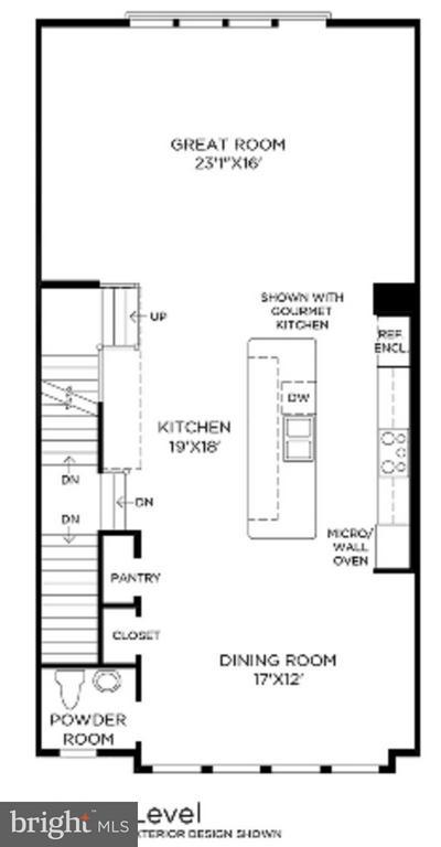 Living/ Upper 1 Floor Plan - MILDRED LANDING SQ, ASHBURN